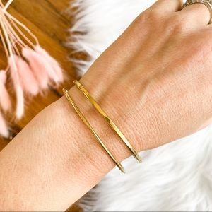 Juicy couture gold bangle set